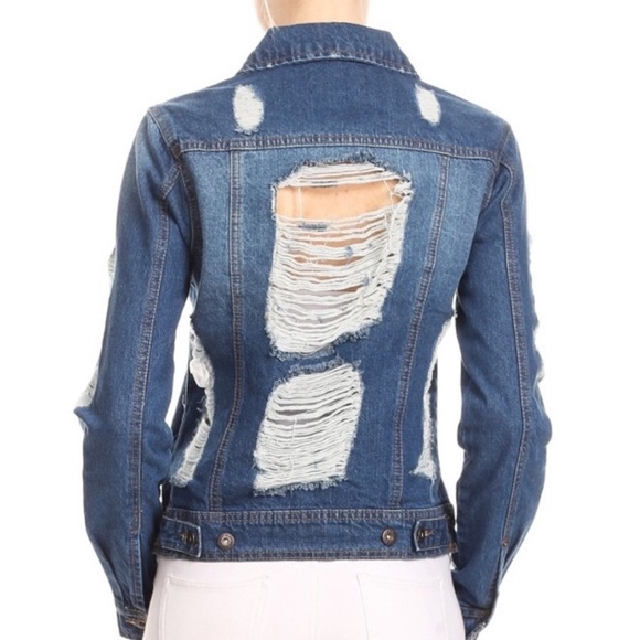 Evolving Always Jackets & Blazers - 🆕Distressed Denim Jacket Trending